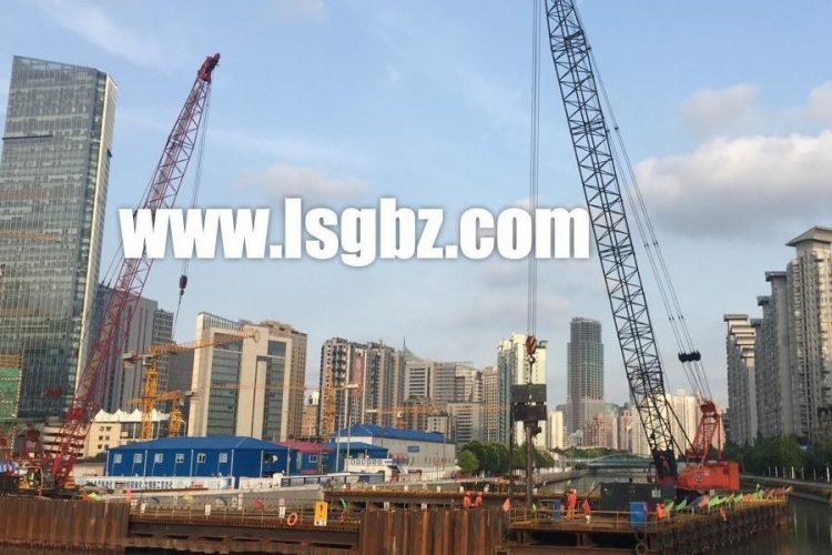 上海北横通道明跨苏州河段23米拉森桩施工