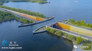 荷兰跨越公路的水道