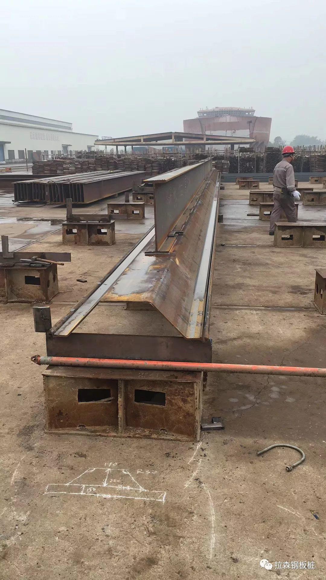 深中通道27m长帽型组合钢板桩围堰案例
